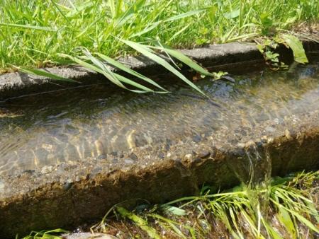 鹿教湯温泉圃場水源